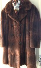 TRUE VINTAGE RARE   REAL MUSHQUASH MINK FUR BROWN  JACKET COAT