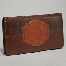 For I Know the Plans I Have For You Brown Lux-Leather Checkbook Cover