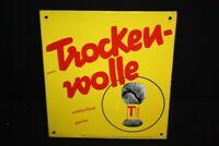 Trocken-Wolle Merkel & Kienlin - Cartel Esmaltado 40 X 43,5CM - Di. Um 1950T O P