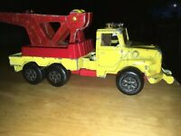 Vintage Majorette Yellow Tow Wrecker Truck Made In France 1/60 Scale As Is!