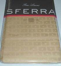 New in Package Sferra LEON 3335 Continental Shams 26x26 Camel Set of 2