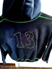 Hooded Sweatshirt Navy w/ Green Youth Large Sunshine School Uniforms #13