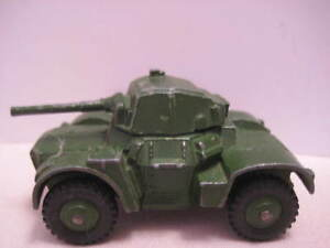 """Unusual Old Metal Dinky Toy Army Tank 2  7/8"""" Armoured Car 1940s-1950s"""