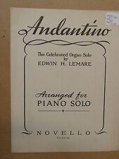 piano EDWIN H LEMARE Andantino