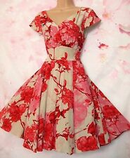 BNWOT Ted Baker 'Cherry Blossom' Silk Occasion Dress 14 (Ted Sz 4) - Exquisite!