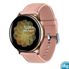 SAMSUNG Galaxy Watch Active2 - Rose Gold Leather & Stainless Steel 40mm SM-R835X