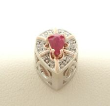 KLEIN SLIDE DIAMOND RUBY SLIDER CHARM NEW