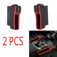 2PCS Car Seat Catcher Gap Filler Storage Box Coin Collector Cup Holder Organizer