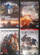 TRANSFORMERS QUADRILOGY 1,2,3,4 Michael Bay*Shia LeBouf  Sci-Fi Action DVD *EXC*