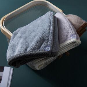 Women Quick Dry Shower Cap Comfortable Hair Towel For Bath Hat Wrap Supplies YO