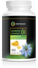 Kräuterland Schwarzkümmelöl Kapseln - 400 Stück - kaltgepresst - ägyptisch -