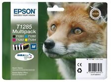 NEW 4 Epson Original T1285 Printer Ink Cartridges T1281 T1282 T1283 T1284 InDate