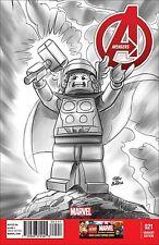 AVENGERS 21 VOL 5 5th SERIES RARE LEGO SKETCH 1:100 VARIANT NM OCT 16 THOR