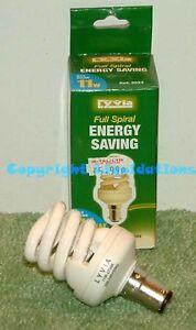 LyvEco Compact Fluorescent Lamp CFL Energy Saving Light Bulb Spiral 11 w B15 SBC