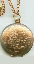Gorgeous Antique 1950's Brass + Copper Locket Pendant