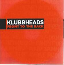 DOUBLE / 2 CD album KLUBBHEADS - FRONT TO THE BACK includes the VIDEO'S
