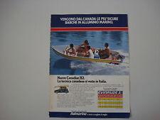 advertising Pubblicità 1982 ITALMARINE CANADIAN EVINRUDE