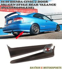 Mu-gen style Rear Spats Caps Lip Valences Aprons (PU) Fits 99-00 Civic 2dr EK