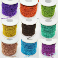 12 Colors Open Link Iron Cable Metal Chain DIY Craft Jewelry Making Supplies