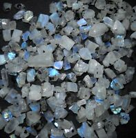 WHOLESALE LOT 175 CTS A+ RAW MINERALS BLUE FIRE RAINBOW MOONSTONE GEMSTONE ROUGH