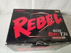 Canon EOS Rebel T2i 18.0MP Digital SLR Camera w/ 18-55mm IS Lens +bonuses MINT