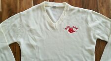 Vintage Boston Red Sox acrylic v-neck Sweater Men's Large Twins baseball golf