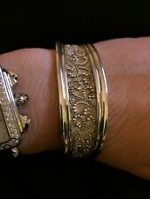 Lois Hill granulated Cuff Bracelet-Sterling Silver-GORGEOUS!!!