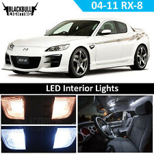 White LED Interior Light Accessory Kit MAP DOME for 2004-2011 Mazda RX-8 5 Bulbs