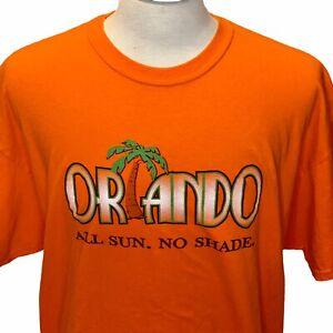 Orlando Meltdown 2015 Orlando All Sun No Shade Mens 2XL Orange T Shirt