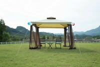 10x10 Garden Gazebo Patio Canopy Party Tent 2-tier W/ Netting Outdoor Metal