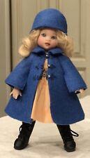 Boneka Blue Felt Coat + Hat 4 Kish Tiny Riley Dolls sz 15cm & similar size Sold2