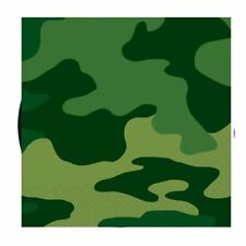 16pk Army Camouflage Beverage Napkins Birthday Party Tableware Military Camo