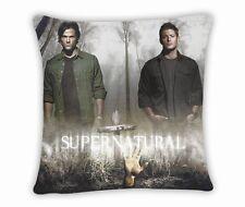 """New Supernatural Sam & Dean Pillow Case Cushion Cover Bedding Pillowcase 17""""x17"""""""