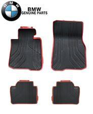 For BMW F33 428i 435i M4 Front & Rear Black Red Rubber Floor Mat Set Sport Line