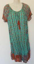 ORIENTIQUE LA RIOJA NEW dress SHIRRED FRONT Women 100% COTTON SHORT SLEEVE 71283