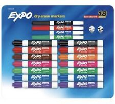 Dry Erase Markers 18 Pack Expo Chisel & Fine Tip Low Odor Ink
