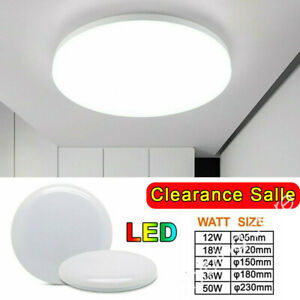 Bright Round LED Ceiling Light Panel Down Living Room Bathroom Wall Lamp ⭐⭐ ZE