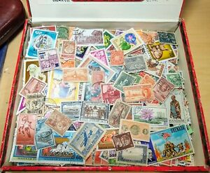 1200 WW 🌐 stamp lot 'CIGAR BOX' full- many older! variety from albums- 🌎  A31