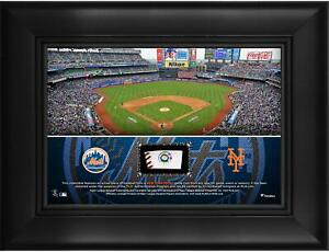 """New York Mets Framed 5"""" x 7"""" Stadium Collage with a Piece of Game-Used Baseball"""