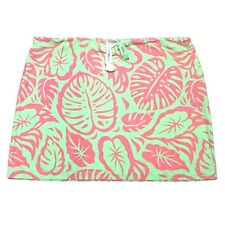 New James Gunn Skirt Womens Size Large Pink Green Leaf Floral Pattern Tie Waist