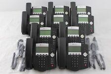 Lot of 10 Polycom SoundPoint IP 450 IP450 SIP 2201-12450-001 Phones