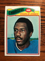1977 Topps #167 Charlie Joiner Football Card San Diego Chargers Raw