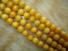 """Nature 8mm yellow Jasper Round Beads Gemstone 15""""##MJ091"""