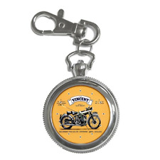 VINCENT BLACK SHADOW MOTORCYCLE POSTER REPRO KEYCHAIN WATCH **LOVELY GIFT**