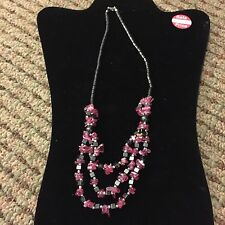 Hematite Necklace. Pink. Multi Strand. Helps Blood Flow And Arthritis
