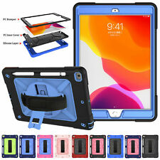 for iPad 10.2 7th Gen Samsung Tab Shockproof Rubber Integrated Stand Case Cover