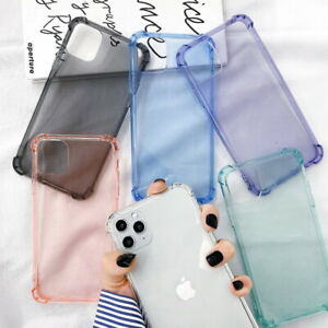 Case ShockProof Color Soft Clear Cover For iPhone 12 Pro Max 11 XR XS Max 8 Plus