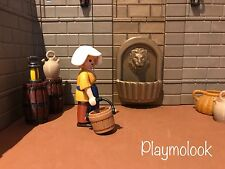SOURCE CASTLE MEDIEVAL FOUNTAIN STECK CUSTOM PIECES PLAYMOBIL DOESN'T INCLUDED
