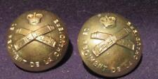 Le Regiment de la Chaudiere Canada Post-WWII Pair of 25mm Brass Tunic Buttons