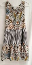 Band of Gypsies BOHO  dress Size S small paisley flowers lightweight polyester